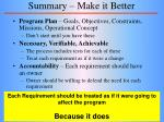 summary make it better