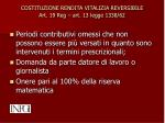 costituzione rendita vitalizia reversibile art 19 reg art 13 legge 1338 62