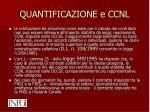 quantificazione e ccnl