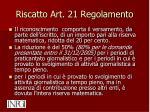 riscatto art 21 regolamento1