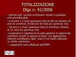 totalizzazione dlgs n 42 2006