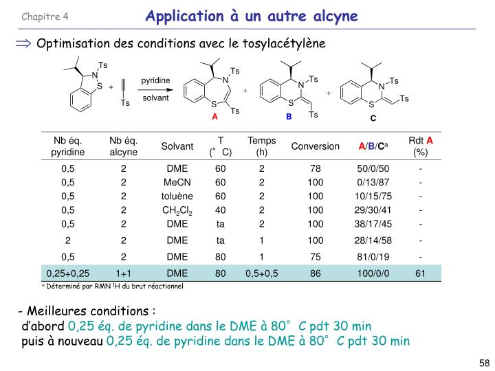 Application à un autre alcyne