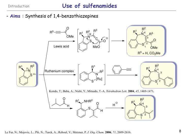 Use of sulfenamides
