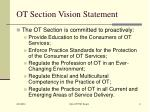 ot section vision statement