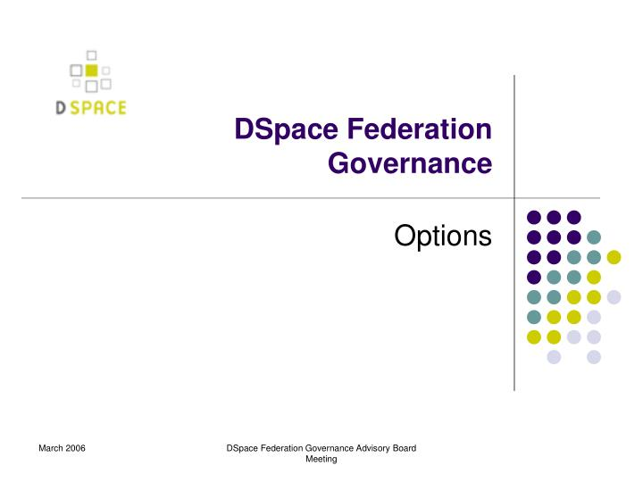 dspace federation governance n.