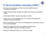 it service excellence committee itsec