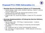 proposed fy11 itsec deliverables 1