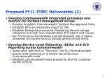 proposed fy11 itsec deliverables 2
