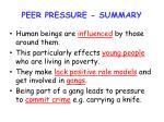 peer pressure summary