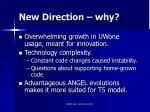 new direction why