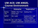 uw ace uw angel course environment