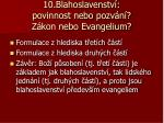 10 blahoslavenstv povinnost nebo pozv n z kon nebo evangelium