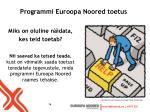 programmi euroopa noored toetus