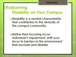 re framing disability on your campus