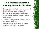 the human equation making firms profitable