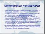 importancia de los procesos penales