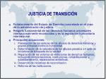 justicia de transici n