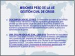misiones pesd de la ue gesti n civil de crisis