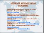 sistema de naciones unidas programas
