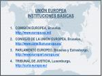 uni n europea instituciones b sicas