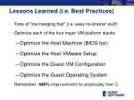lessons learned i e best practices