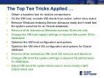 the top ten tricks applied