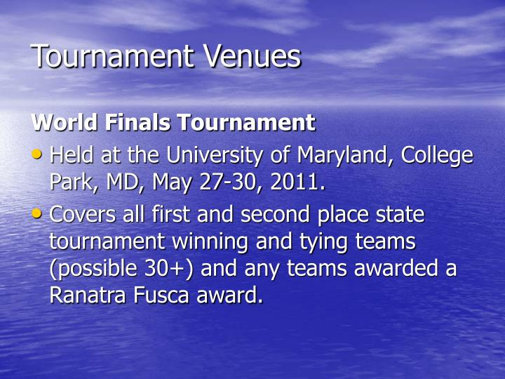 Tournament Venues