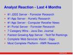 analyst reaction last 4 months