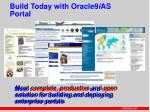 build today with oracle9 i as portal