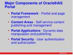 major components of oracle9 i as portal