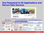 one password to all applications and secure data sources
