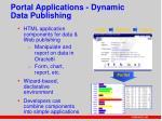 portal applications dynamic data publishing