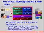 run all your web applications web sites