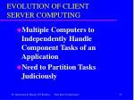 evolution of client server computing