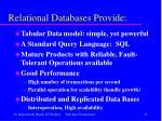 relational databases provide