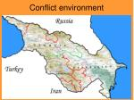 conflict environment