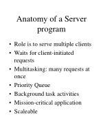 anatomy of a server program