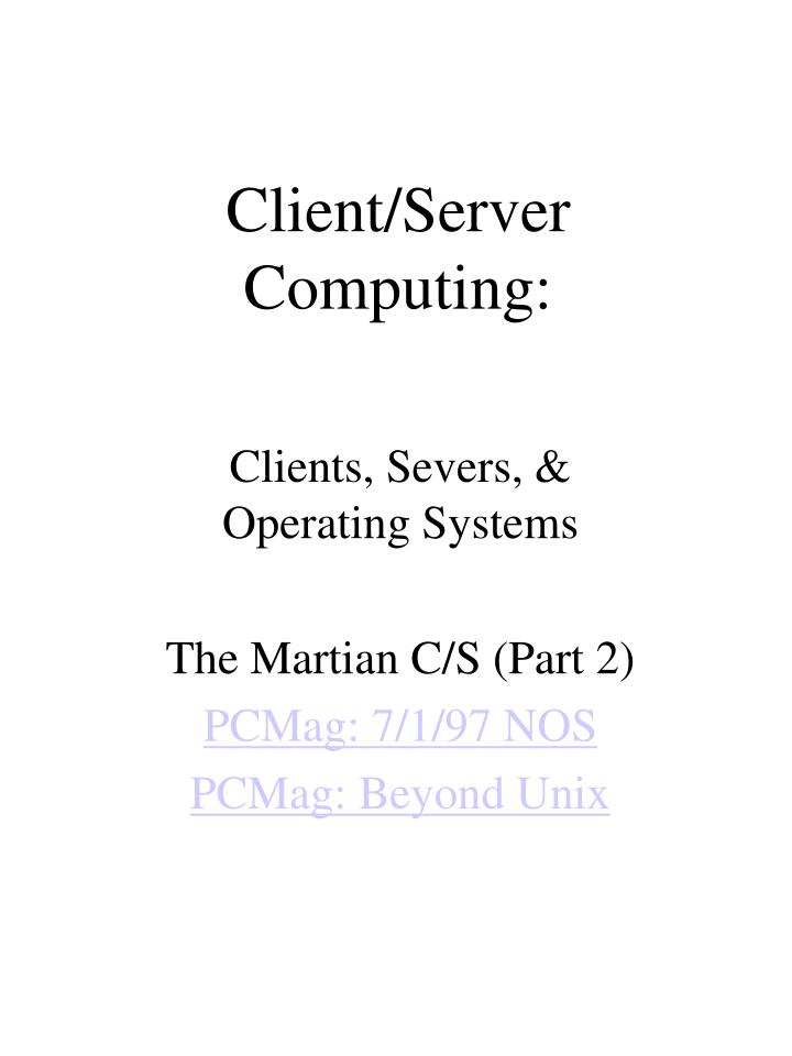 client server computing n.