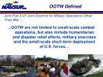 ootw defined