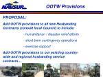 ootw provisions