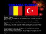 romania turkey