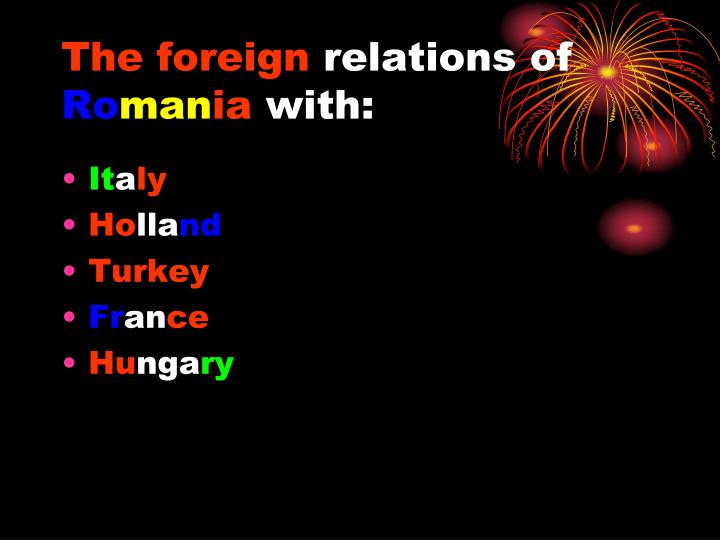 the foreign relations of ro man ia with n.