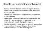 benefits of university involvement
