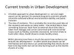 current trends in urban development