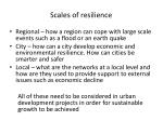 scales of resilience