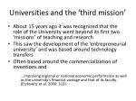 universities and the third mission