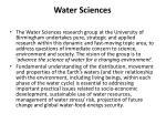 water sciences