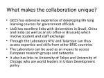 what makes the collaboration unique1