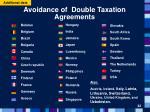 avoidance of double taxation agreements