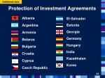 protection of investment agreements